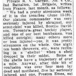 Newspaper clipping– From the Toronto Telegram July 1915. Submitted for the project Operation Picture Me