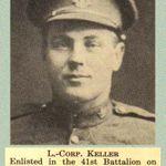 Photo de Joseph Keller – «Our Heroes in The Great World War» de l'Université de Toronto, publié en 1919 par J. H. De Wolfe, Patriotic Publishing Co., Ottawa (Ontario).
