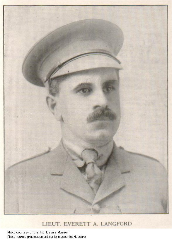 2e Photo de Everett Alexander Langford – Le lieutenant Evertt A. Langford, du 52e Bataillon (auparavant du 125e Bataillon), a été tué au combat à Amiens.