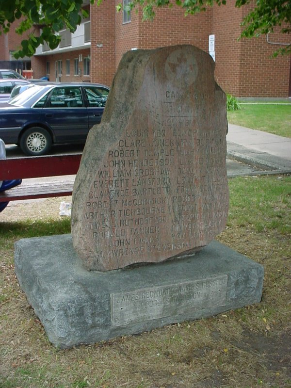 Memorial– Private Oliver Brooks Geary is remembered on this memorial which is located in London, Ontario.