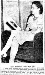 Newspaper clipping– From the Toronto Star September 1940. Submitted for the project Operation Picture Me
