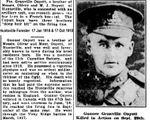 Coupure de Journal – Forestiers Huntsville ONT 17 oct 1918