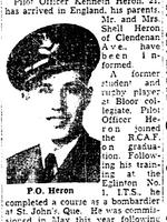 Coupure de Journal – De le Toronto Star, juillet 1943. Soumis pour le projet Opération Photo Moi
