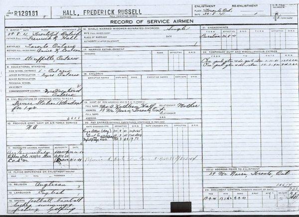 Service Record (back)