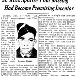 Coupure de Journal – De le Toronto Star, novembre 1942. Soumis pour le projet Opération Photo Moi