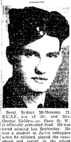 Newspaper clipping– From the Toronto Star June 1943. Submitted for the project Operation Picture Me