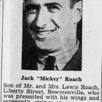 Newspaper clipping– Canadian Statesman (Bowmanville, ON), 22 May 1941, p. 1