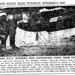 Newspaper clipping– From the Toronto Star October 1940. Submitted for the project Operation Picture Me