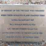 Cenotaph– Info plate on memorial near Boyndie aerodrome, formerly RAF Banff.