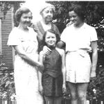 Family photo– From left: F.T. Peters' sister Mary Helen Dewdney, mother Bertha Peters, niece Dee Dee Dewdney McBride, and niece Eve Dewdney Fingland. c. 1930.