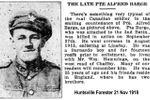 Newspaper clipping– Huntsville ON Forester  21 Nov 1918