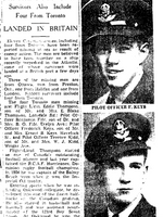 Newspaper clipping– From the Toronto Star May 1943. Submitted for the project Operation Picture Me