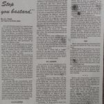 """Newspaper clipping– Part 1 of an article from """"Airforce"""", describing the crash landing of Harold Hannah's plane, PB413."""