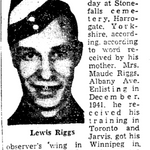 Newspaper clipping– From the Toronto Star February 1944. Submitted for the project Operation Picture Me