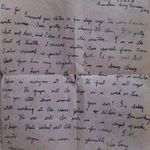 """Letter– Metro's last letter to my Father Joseph (his brother). """"The war will be over in a couple of weeks, I hope.""""  Two weeks to the day, Metro was killed September 20, 1944."""