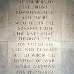 Groesbeek Memorial– This photo of the inscription on the Groesbeek Memorial (Groesbeek Cemetery, Holland) was taken by Padre Craig Cameron of The Queen's Own Rifles in June of 1994.