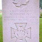 Gravemarker– Sergeant Aubrey Cosen's gravemarker. Photo by Geoff Winnington-Ball, Maple Leaf Up.