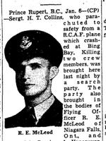 Coupure de Journal – De le Toronto Star, Janvier 1942. Soumis pour le projet Opération Photo Moi