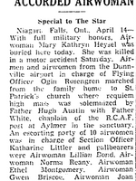 Newspaper clipping– From the Toronto Star April 1942. Submitted for the project Operation Picture Me