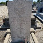 Grave marker– Grave marker from Sergeant McMullins grave at the general cemetery in Hourtin, Gironde, France.