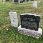 Grave marker– Grave marker of Cpl Lloyd TARGETT at Campbelltown Rural Cemetery, Campbelltown NB, Canada. (Photo credit: Captain (Ret'd) E.L.L. Gaudet, CD)