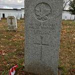 Grave marker– Grave marker of Pte Philias BOURQUE at Cap-Pele RC Cemetery, Cap-Pele NB, Canada. (Photo credit: Captain (Ret'd) E.L.L. Gaudet, CD)