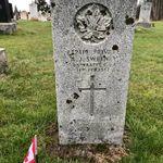 Grave marker– Grave marker of Pte Alexander John SWEENEY at Melrose Cemetery, Melrose (Highway 16 Westmorland Co.) NB, Canada. (Photo credit: Captain (Ret'd) E.L.L. Gaudet, CD)