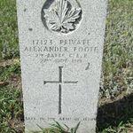 Grave marker– Image courtesy of Padre Phil Miller, Br. 25, RCL, Sault Ste. Marie, ON
