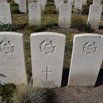 Grave marker– Grave marker from the combined grave of Bob Callwell at Uden Commonwealth War Cemetery, The Netherlands.