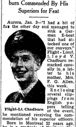 Newspaper clipping– From the Toronto Star January 1942. Submitted for the project Operation Picture Me