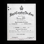 Autre – Certificat de service RCAF pour Caporal V. A. Le Moine.