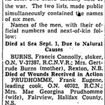 Newspaper clipping– From the Toronto Star September 1943. Submitted for the project Operation Picture Me