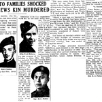 Newspaper clipping– From the Toronto Star December 1945. Submitted for the project Operation Picture Me
