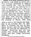 Newspaper clipping– From the Toronto Star April 1945. Submitted for the project Operation Picture Me