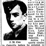 Coupure de presse – Du Toronto Star juin 1945. Soumis pour le projet Operation Picture Me
