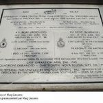 Memorial Plaque– The plaque on the side commemorating 431 Squadron. The Memorial is located in Dalton-on-Tees, Yorkshire.
