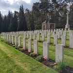 Cemetery– The crew of Lancaster KB-859 SE-U - Becklingen War Cemetery, Germany - April 2017 ... photo courtesy of Marg Liessens