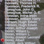 Memorial– Pilot Officer Albert Dorey is also commemorated on the Bomber Command Memorial Wall in Nanton, AB … photo courtesy of Marg Liessens