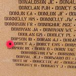 Memorial– Pilot Officer Albert Dorey is also commemorated at the International Bomber Command Centre, Lincolnshire, UK - May 2019 … photo courtesy of Marg Liessens