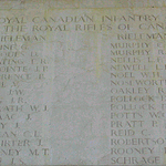 Memorial– Rifleman HERBERT LESLIE LAWRENCE is one of  30 members of the Royal Rifles of Canada, Royal Canadian Infantry Corps who are commemorated on this panel of the Sai Wan Memorial.  He was among the 1689 Canadian soldiers taken Prisoners of War after the surrender of Hong Kong on December 25th, 1941, and is one of 267 of these soldiers who died while a POW.  According to information compiled by Vincent Lopata and posted at the Hong Kong Veteran¿s Commorative Association website, Rifleman LAWRENCE died as a result of beriberi.  http://www.cforce.hkvca.ca/battledeaths.htm