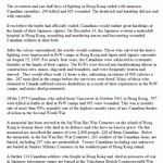 Canada and the Defence of Hong Kong.– Source: Veterans Affairs Canada