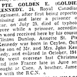 Coupure de Journal – From the Toronto Star November 1944. Submitted for the project Operation Picture Me