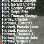 Memorial– Flying Officer Martin Hartog is also commemorated on the Bomber Command Memorial Wall in Nanton, AB … photo courtesy of Marg Liessens