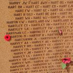 Memorial– Flying Officer Martin Hartog is also commemorated at the International Bomber Command Centre, Lincolnshire, UK - May 2019 … photo courtesy of Marg Liessens