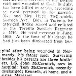 Coupure de presse – Du Toronto Star octobre 1944. Soumis pour le projet Operation Picture Me