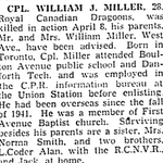 Coupure de Journal – De le Toronto Star, avril 1945. Soumis pour le projet Opération Photo Moi