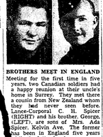 Coupure de Journal – De le Toronto Star, mars 1943. Soumis pour le projet Opération Photo Moi