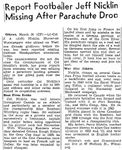 Newspaper Clipping– Source:  Globe and Mail, March 31, 1945