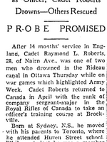 Newspaper clipping– From the Toronto Star July 1942. Submitted for the project Operation Picture Me