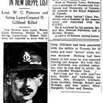 Newspaper clipping– From the Toronto Star January 1943, Submitted for the project Operation Picture Me